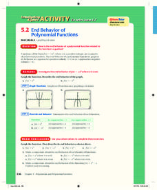 End Behavior of Polynomial Functions Lesson Plan