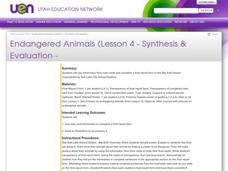 Endangered Animals Lesson Plan