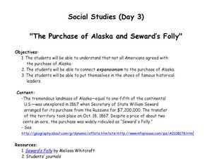 The Purchase of Alaska and Seward's Folly Lesson Plan