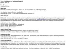 Endangered Animals Report Lesson Plan