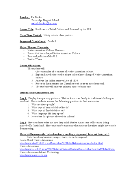 indian removal act of 1830 lesson plans  u0026 worksheets