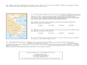 Vietnam War Gallery Worksheet Worksheet for 10th Grade  Lesson Planet