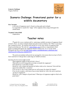 Scenario Challenge: Promotional Poster for a Wildlife Documentary Lesson Plan