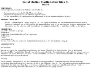 Martin luther king jr day 6 lesson plan for 4th 6th grade martin luther king jr day 6 lesson plan ibookread Read Online