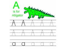 A IS FOR ALLIGATOR Worksheet
