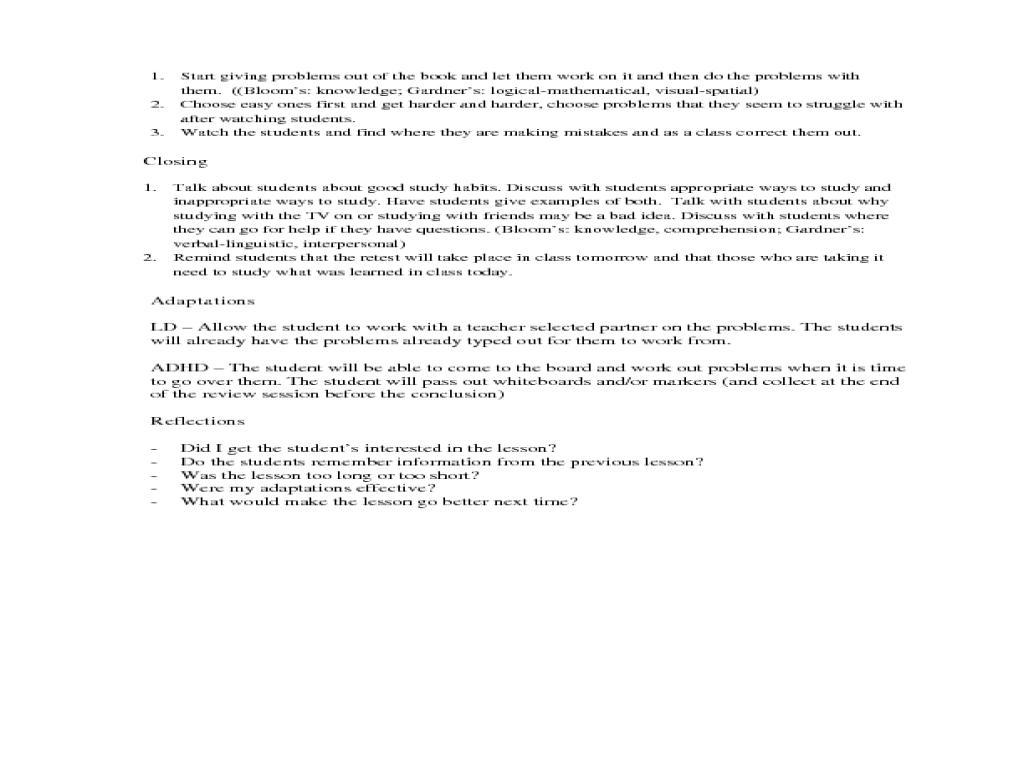 slope intercept form lesson plan  Slopes, Slope-Intercept Form, Standard Form Lesson Plan for ...
