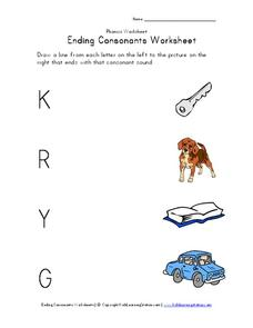 Ending Consonants Worksheet Worksheet