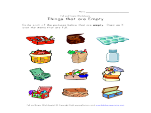 Full and empty lesson plans worksheets reviewed by teachers for Things that are empty