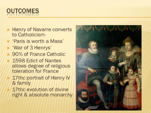 Reformation and Civil Wars of Religion in 16th Century France Lesson Plan