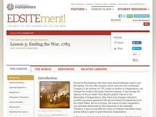 Ending the War, 1783 Lesson Plan