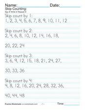 skip counting 1 through 100 worksheet for 1st 3rd grade lesson planet. Black Bedroom Furniture Sets. Home Design Ideas