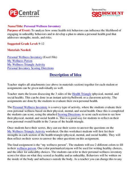 Personal Hygiene High School Lesson Plans Worksheets