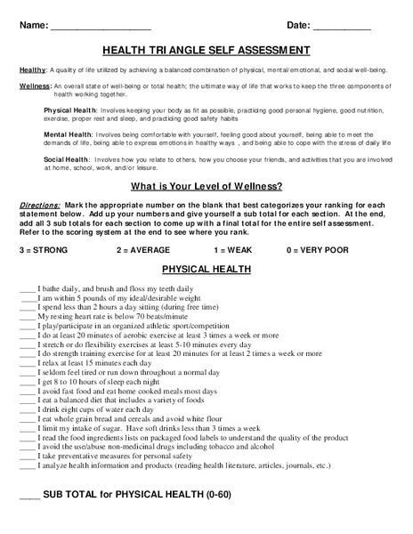 Health And Wellness Lesson Plans Worksheets Reviewed By