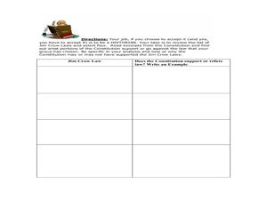 Jim Crow Laws Lesson Plans & Worksheets | Lesson Planet
