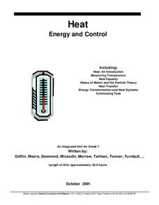 Energy and Control Lesson Plan