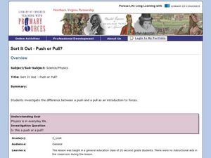 Sort It Out - Push or Pull? Lesson Plan