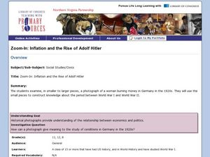 Zoom-In: Inflation and the Rise of Adolf Hitler Lesson Plan