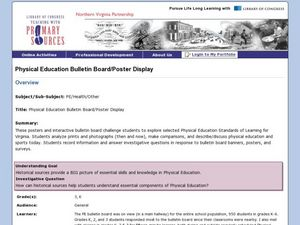 Physical Education Bulletin Board/Poster Display Lesson Plan