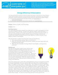 Energy Efficiency Ambassadors Lesson Plan