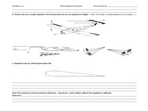 Aviation merit badge Worksheet for 5th   12th Grade ...