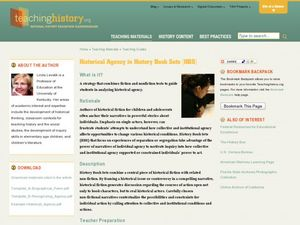 Historical Agency in History Book Sets (HBS) Lesson Plan