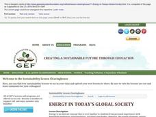 Energy in Today's Global Society Lesson Plan