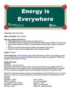 Energy is Everywhere Lesson Plan
