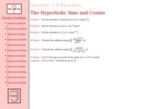 The Hyperbolic Sine and Cosine Worksheet