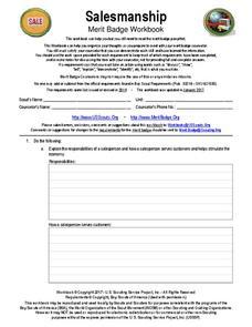 Salesmanship - Boy Scout Merit Badge Workbook Interactive ...