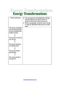 Energy Transformation Worksheet S Katinabags