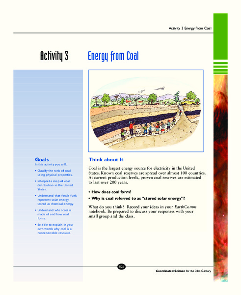 Energy from Coal Activities & Project