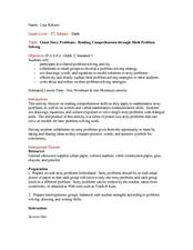 Reading Comprehension Through Math Problem Solving Lesson Plan