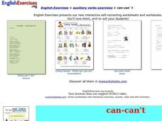 English Exercises: Auxiliary Verbs Interactive