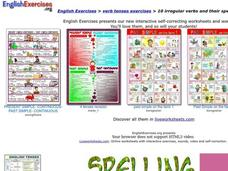 English Exercises: Irregular Verbs Interactive