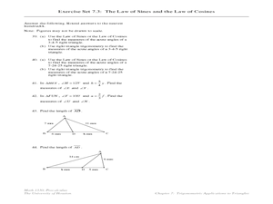 The Law of Sines and the Law of Cosines Lesson Plan