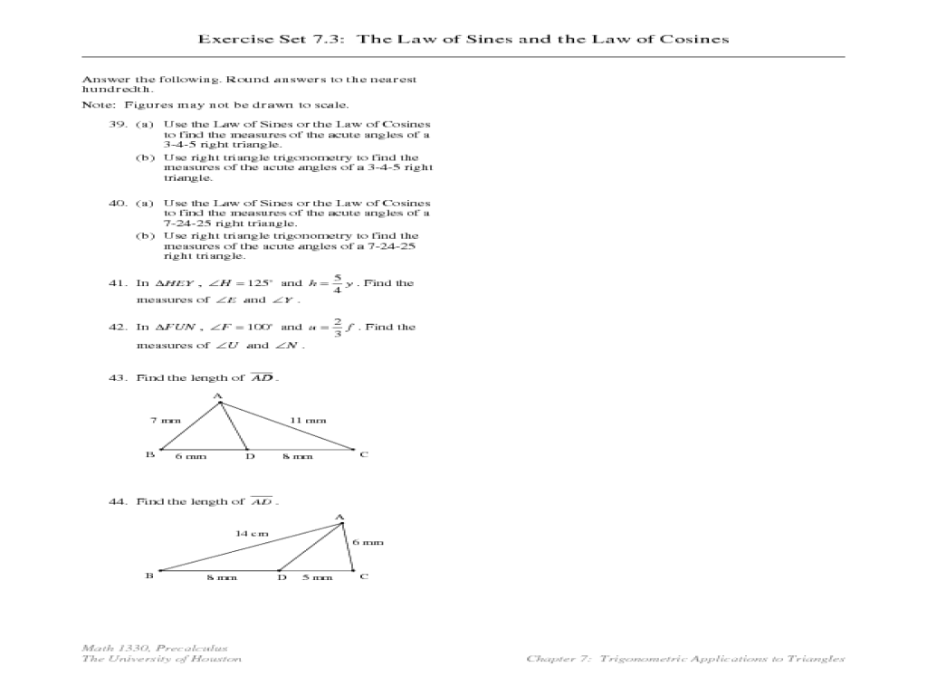 All Grade Worksheets Law Of Sines And Cosines Worksheet All – Law of Sines Worksheet