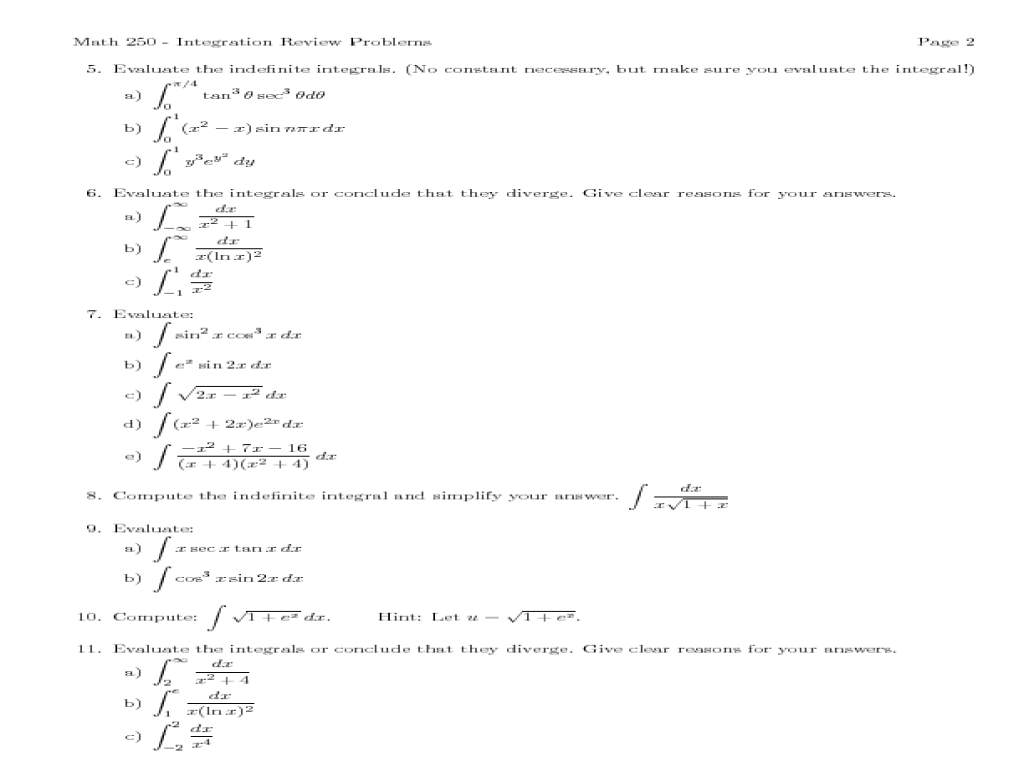 Electric Indefinite Integral Math Plane Introduction To ...