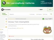 Dinosaur Train: Drawing Birds Lesson Plan
