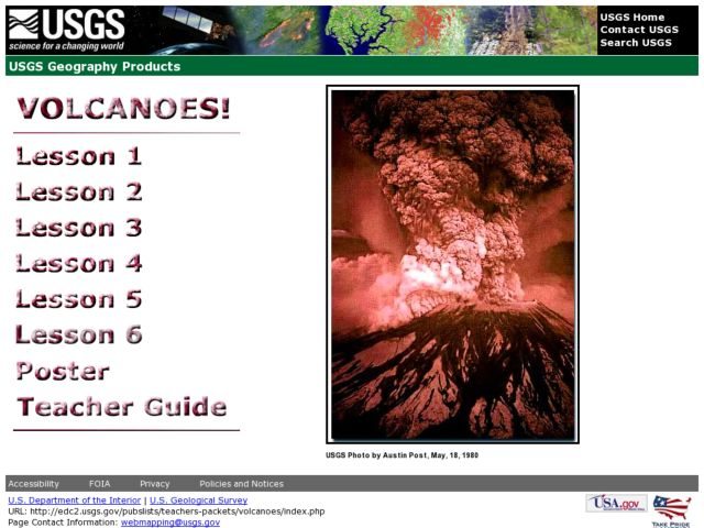 Volcanoes: USGS Geography Lesson Plan