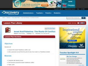 Israel and Palestine: The Roots of Conflict Lesson Plan