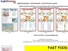English Exercises: Fast Food Goes Organic Interactive