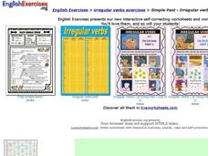Simple Past - Irregular Interactive