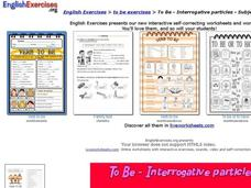 To Be - Interrogative particles - pronouns Interactive
