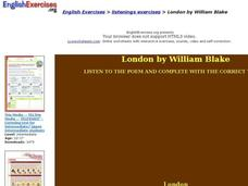 "Listening Exercises: ""London"" by William Blake Interactive"
