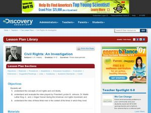 Civil Rights: An Investigation Lesson Plan