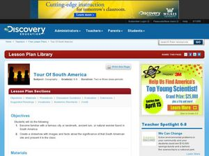 Tour Of South America Lesson Plan