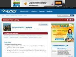 Champions Of The Land Lesson Plan
