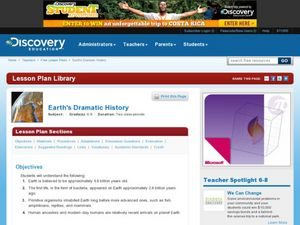 Earth's Dramatic History Lesson Plan