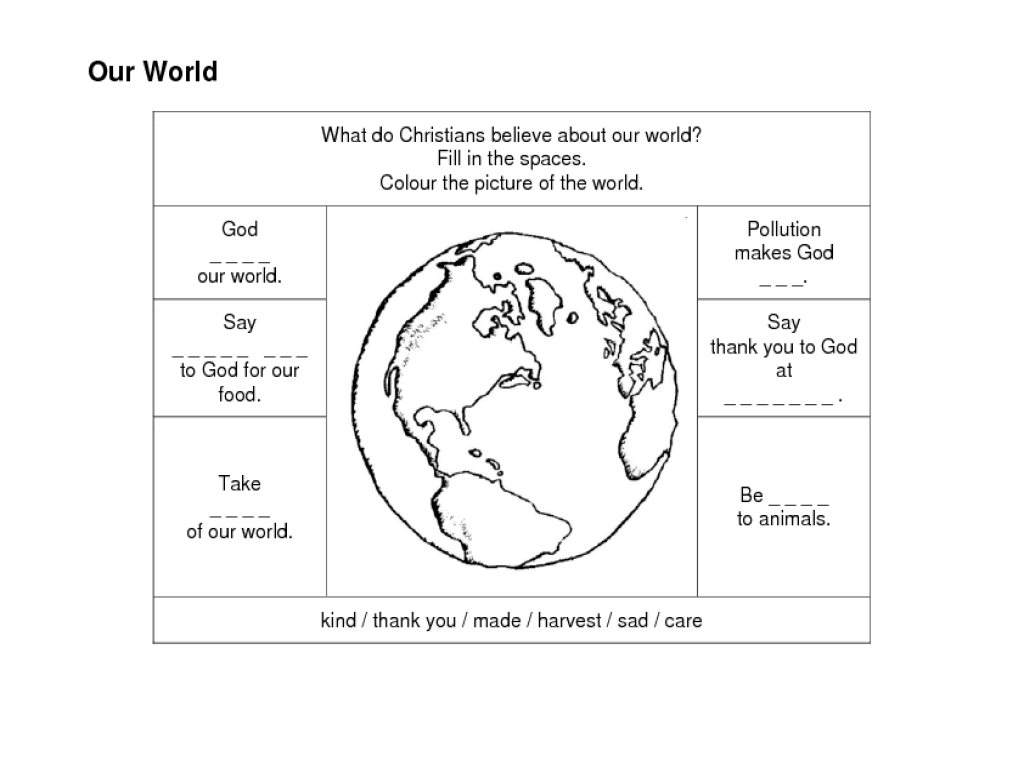 Our World Worksheet for 2nd - 5th Grade   Lesson Planet