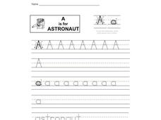 A is for Astronaut Worksheet